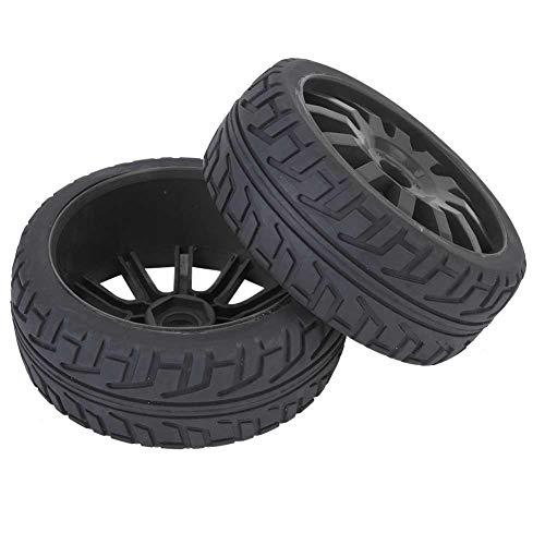Dilwe RC Car Tires Hub, Material de Goma Pieza de Mejora para 1/8 en Carretera Racing RC Accesorios de Coche(Negro)