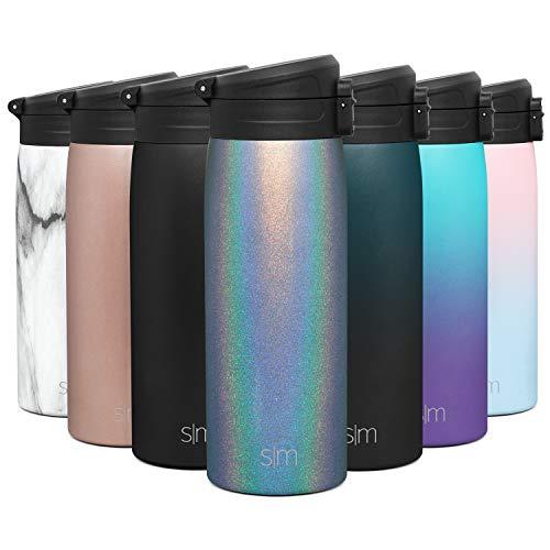 Simple Modern 470 ml Kona Thermobecher mit abschließbarem Klappdeckel Kaffeebecher to go Thermoskanne Thermosflasche Trinkflasche Edelstahl Kaffee Tasse vakuumisoliert für heiße oder kalte Getränke