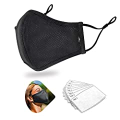 3ply Mesh Cover Keep Cool cover for summer. Package 4pcs mouth cover with 8pcs PM2.5 filters. Stretchy ear loops and adjustable buckle match for you wear easier. Soft against the skin, unique jacquard design, more breathable SIZE: 23.5 *16.5cm / 9.25...
