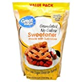 PACK OF 5 - Great Value Granulated No Calorie Sweetener with Sucralose Value Pack, 19.4 oz
