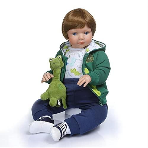 ZYYH Reborn Baby Doll, Simulation Gril/Boy/Boy and Girl, Niño, Blue Eyed Kid 70cm Soft Silicone Life Bebé,Boy