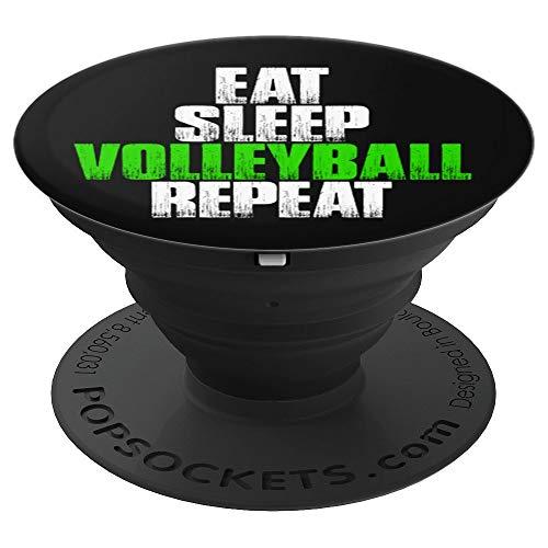 Eat Sleep Volleyball Repeat - Funny Volleyball Gift - PopSockets Ausziehbarer Sockel und Griff für Smartphones und Tablets
