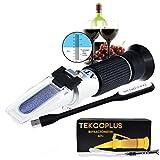 Óptica Refractómetro De Vino De Uva Con ATC 0-25% Vol Y Alcohol Y 0-40% Brix