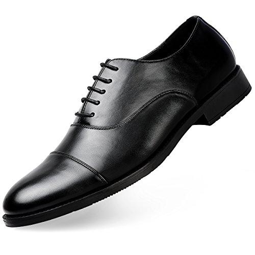 Men's Dress Shoes FormalLeather Oxfords Lace Up Black 8