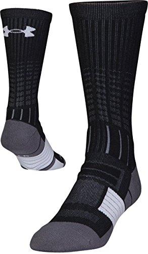Under Armour Adult Unrivaled Crew Socks, 1-Pair , Black/White , Large