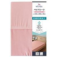 メリーナイト SEK抗菌防臭加工 ベッドシーツ 「スキップ」 セミダブル ピンク MN673521-16
