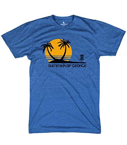 Guerrilla Tees Summer of George Shirt Funny disc Golf tees, Blue, Medium