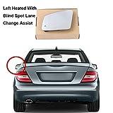 Cubiertas Espejo retrovisor Blind Spot Assist de cambio de carril izquierda Retrovisor Espejo de ala en forma Fit for el Benz A B C E Clase S W176 W246 W204 W212 W221 C117 GLA CLA Ala conjunto de espe