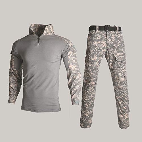 Kampf T-Shirt Taktische Kleidung Special Forces Camouflage Außen Army Frog Man Anzug Set Tactical Training Bekleidung Herren Tarnung bequem E-M+34