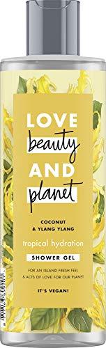 Love Beauty And Planet Tropical Hydration Duschgel, für trockene Haut Coconut Oil und Ylang Ylang Flower ohne Parabene, 1 Stück (400 ml)