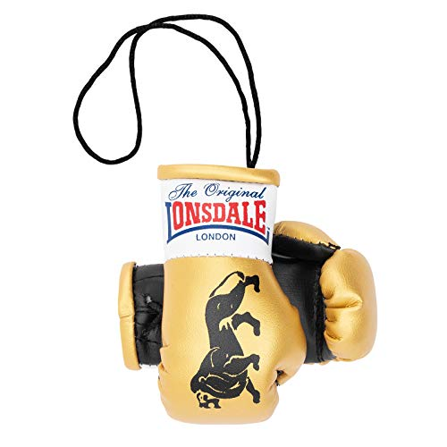 Lonsdale Mini Boxhandschuhe, Gold/schwarz