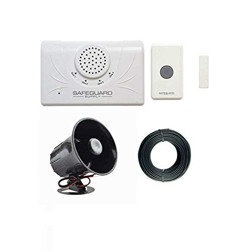 Safeguard Supply Extra Loud Doorbell- 120db Door Buzzer for Business Entry - Unique Loud Wireless Doorbell for Noisy or Large Areas - One Door Buzzer Entry System Kit Provides Complete Coverage