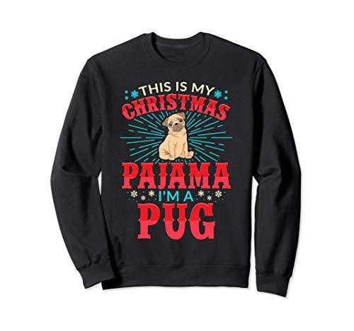 Aneisha Lustige Weihnachten Pyjama Mops Hund Liebhaber Sweatshirt