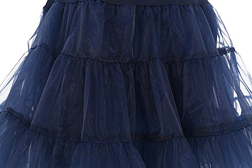 Dresstells 1950 Petticoat Reifrock Unterrock Petticoat Underskirt Crinoline für Rockabilly Kleid Navy M - 3