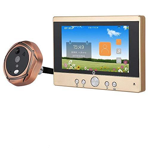 Ennio - Mirilla para puerta de entrada, 12,7 cm, digital e inalámbrica, cámara de 720p, timbre con telefonillo o toma de imágenes / vídeo