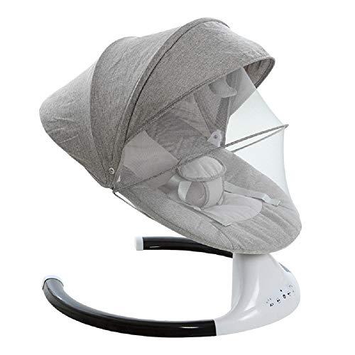 Ingenuity Cradling - Silla mecedora eléctrica para cuna con control remoto Bluetooth, oscilación automática, juego de música, mosquitero, melodías suaves y función de sincronización
