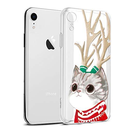 Funda para iPhone XR, Eouine Cárcasa Silicona 3D Transparente con Dibujos Navidad Diseño [Antigolpes] de...