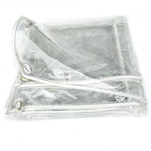 ZKORN Lona Impermeable Gruesa Transparente, Lona Plástica Impermeable A Prueba De Lluvia, Aislamiento De Balcón Ventana Pvc Película De Invernadero, Piscina(1x1.5m(3.28 x4.92ft))