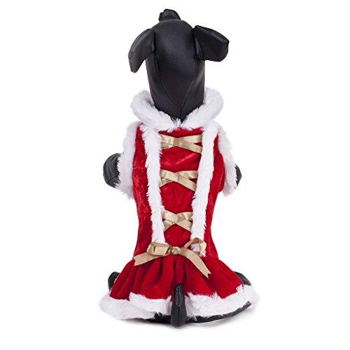 Costume de Noël Robe Pour Chiot Petit Chien Rouge L