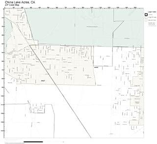 ZIP Code Wall Map of China Lake Acres, CA ZIP Code Map Laminated