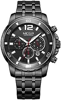 MS2068G-BK-1 MEGIR WATCH FOR MEN -Black