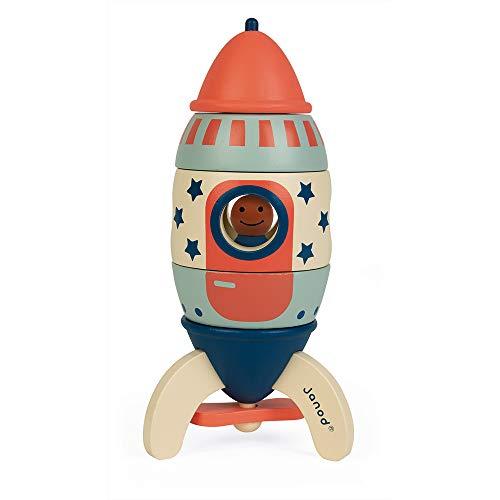 Janod-Kit razzo legno Lucky Star da assemblare 5 pezzi-16 cm-Gioco di costruzione e...