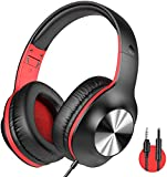 iClever HS18 Over Ear Headphones with Microphone - Foldable Lightweight Stereo...