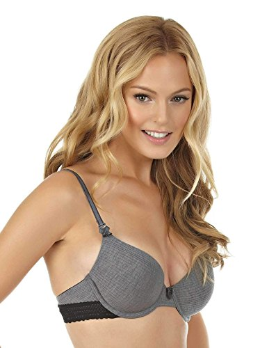 Felina | Aubrie Seamless Memory Foam T-Shirt Bra | Full Coverage | Convertible (Grey Heather, 36C)