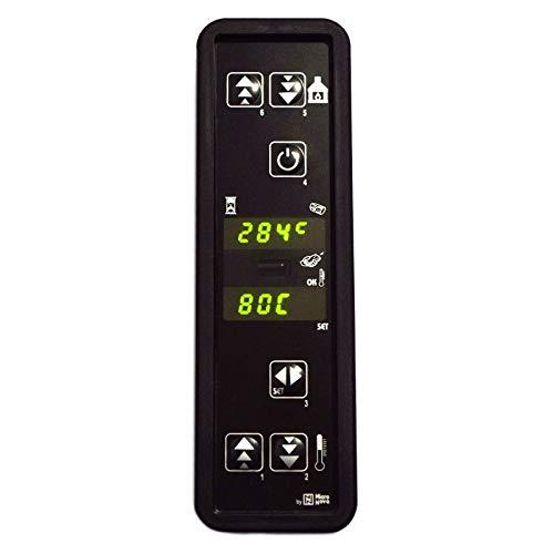 Easyricambi Scheda Tastiera Display LED veritcale MICRONOVA C024 (PC024_C01). 2 Righe 4 Digit   170x53x24 mm per Stufa a Pellet