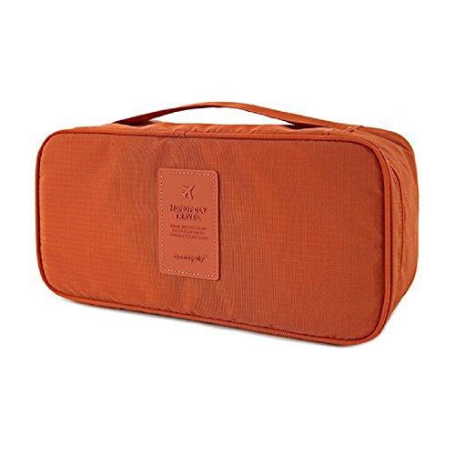 Ducomi® Travel Secret - Borsa da Viaggio - Organizzatore Viaggio Unisex - Misura: 26 x 13 x 12 cm (Orange)