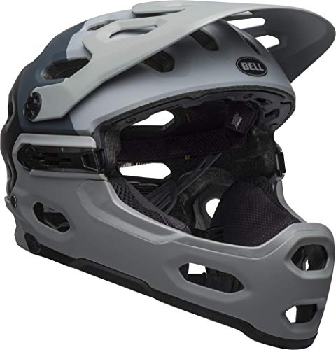 Bell Super 3R MIPS Adult MTB Bike Helmet (Downdraft Matte Gray/Gunmetal (2019), Large (58-62 cm))