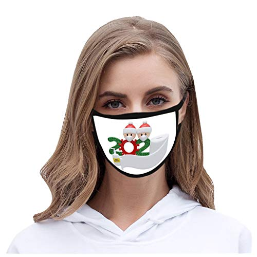 FKSESG Christmas Adult 3D Printing Pollution Spatter Face Màsc Shie1d Mas𝓀 Printed