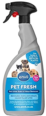Envii Pet Fresh – Pet Urine Odour & Stain Remover Spray Neutralises Urine Odours and Other Pet Accidents - 750ml