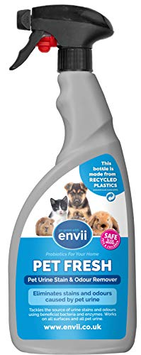 Envii Pet Fresh – Pet Urine Odour & Stain Remover Spray Neutralises Urine...