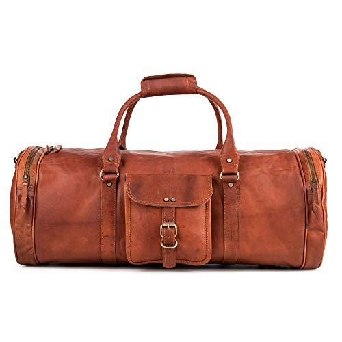 Berliner Bags Reisetasche Texas XL Weekender aus Leder Vintage Damen Herren Brau