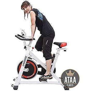 ATAA Bici Spinning con pantalla LCD, manillar y asiento ajustable ...
