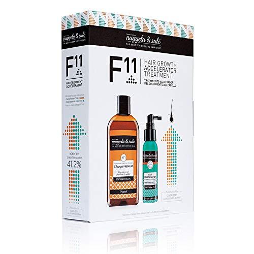 F11, tratamiento acelerador del crecimiento del cabello - Champú premium cebolla + Sérum regenerador