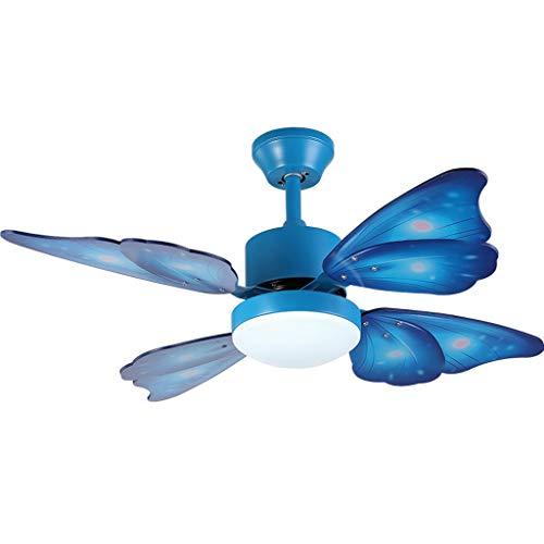 Duor Home Plafondventilatoren, moderne creatieve vlinderventilatoren met licht-uitgangsdecoratieve kamer-ventilator, plafondventilator, afstandsbediening, plafondventilator, licht