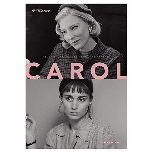 NR Cate Blanchett Hot Movie Carol Poster Art Decorazione Camera da Letto Home Decor Wall Art Poster Picture Opera d'Arte -60x90CM Senza Cornice