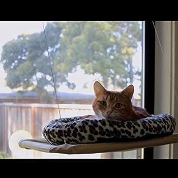 TAMRG Hamac Chat fenetre Cat Sucker Hamac Sun Cat Shelf Window Mat Load 15kg Cat Window Frame Couchage et mobilier pour Chats 55 * 35cm