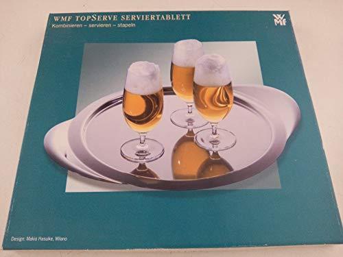 WMF Serviertablett TOP Serve, Design: Makio Hasuike, Milano, Cromargan: Edelstahl Rostfrei 18/10, mattiert, rund 45 cm