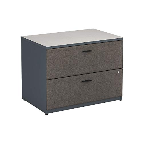 Bush Business Furniture Series A Lateral File Cabinet, 36W, Slate/White Spectrum