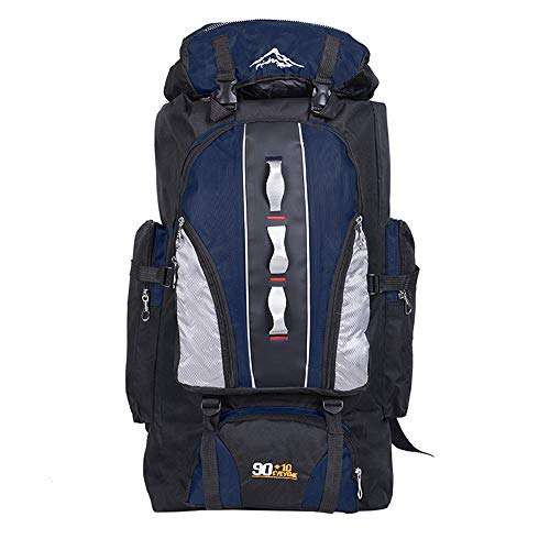 100L Ultra Lightweight Backpack Foldable Hiking Daypack, Morbuy Water Resistant Rucksack Travel Day Bag for Men Women Outdoor Camping Mountaineering Walking Cycling Climbing (100L,Navy blue)