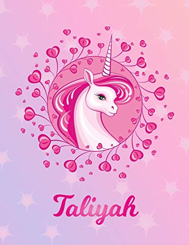 Taliyah: Unicorn Sheet Music Note Manuscript Notebook Paper – Magical Horse Personalized Letter T Initial Custom First Name Cover – Musician Composer … Notepad Notation Guide – Compose Write Songs