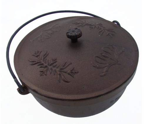 GICOR Gulaschkessel Feuertopf mit Deckel Lagerfeuertopf Dutch Oven aus Gusseisen 9 L