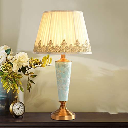 Lampe de table lumineuse en céramique - TD875 Chambre à coucher créative de chevet American Retro Living Room Lampes à économie d'énergie (Color : B)