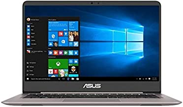 Asus ZenBook UX410UF-GV036T Laptop -Intel Core i7-8550U, 14-Inch FHD, 1TB + 128GB SSD, 8GB, 2GB VGA-MX130, Eng-Arb-KB, Windows 10, Gray