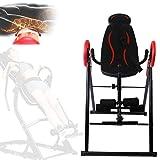 AYNEFY Inversion Table, Heavy Duty Foldable Fitness Gravity Inversion Table Back Stretcher Machine