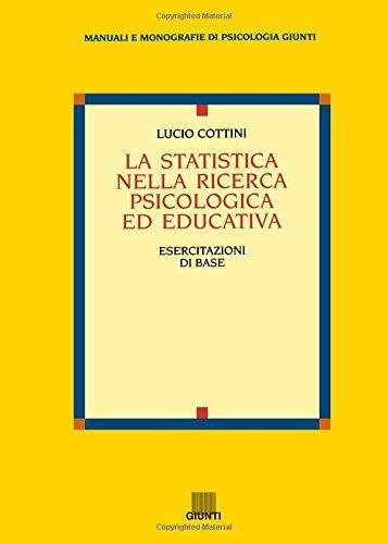 La statistica nella ricerca psicologica ed educativa