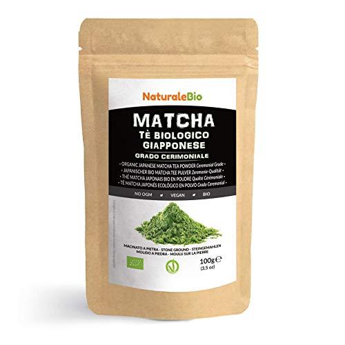 Matcha-Tee-Pulver-Bio [ Ceremonial Grade ] Original Green Tea aus Japan. Grüntee-Pulver Matcha Zeremonie-Qualität, hergestellt in Uji, Kyoto. Ideal zum Trinken, Kochen und in der Latte.